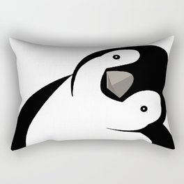 Sideways Peeking Penguin Rectangular Pillow
