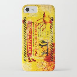 Prevent Zombie Outbreak: Wash your hands! iPhone Case