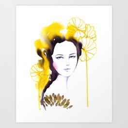 Frida, watercolor Art Print