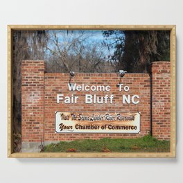 Fair Bluff Sign Serving Tray