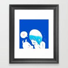 Blue lovers Framed Art Print