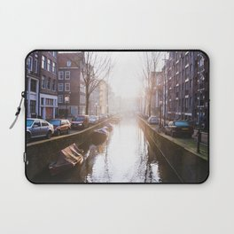 AMSTERDAM / Winter Sunrise on the Canals Laptop Sleeve