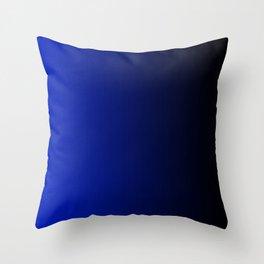 Black and Dark Blue Gradient 062 Throw Pillow