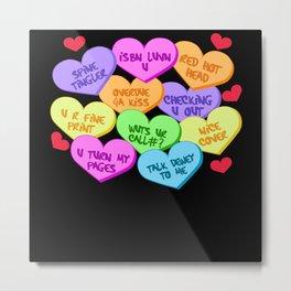 Heart Happy Valentine's Day Love Metal Print