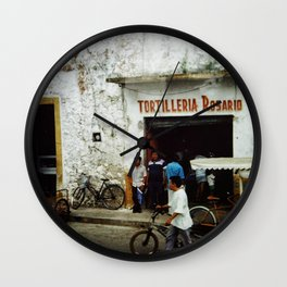 Tortilleria Rosario Wall Clock