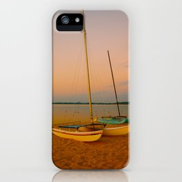 Two Boats at Sunset iPhone Case