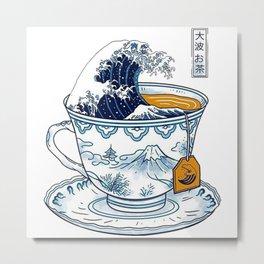 The Great Kanagawa Tea Metal Print