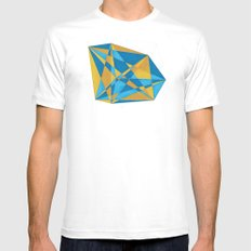 a new geometry MEDIUM White Mens Fitted Tee