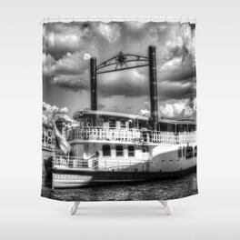 The Elizabethan Paddle Steamer Shower Curtain