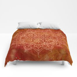 Orange Mandala Comforters