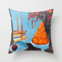 golden girls fruit bowl Throw Pillow