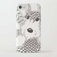 schnauzer iPhone & iPod Cases featuring Schnauzer by Noreen Loke