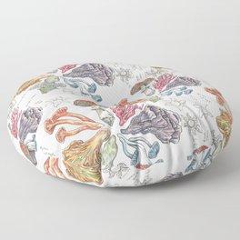 Mushroom Color Wheel Floor Pillow