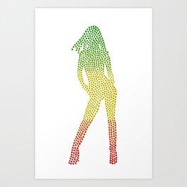 Rasta Girl Art Print