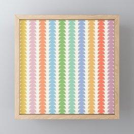 Maude Pattern - Retro Rainbow Framed Mini Art Print