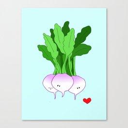 Turnip Friends Canvas Print