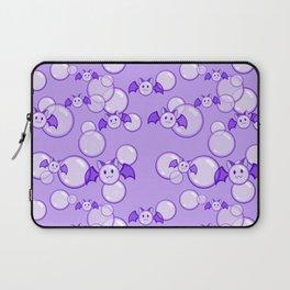 Bubbles and Bats Purple Laptop Sleeve
