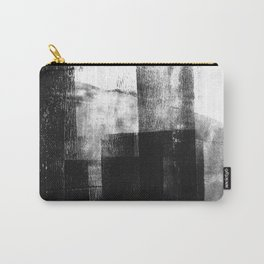 Black White Grey Abstract Monotype Carry-All Pouch
