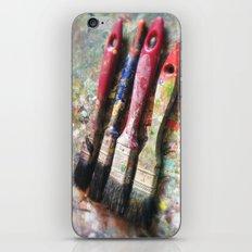Four Paintbrushes iPhone & iPod Skin