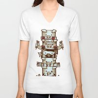 totem V-neck T-shirts featuring Totem by tipa graphic