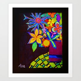 Patio Flowers by Anthony Davais Art Print