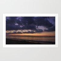 Cloudy sunrise Art Print