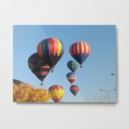 Balloons Arising  Metal Print