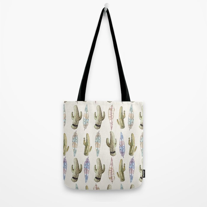 feathers and cactus!! Tote Bag