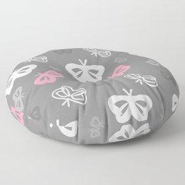 Flying Butterflies Pattern Color Splash Floor Pillow