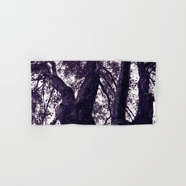 Ultra Violet Winter Trees Hand & Bath Towel