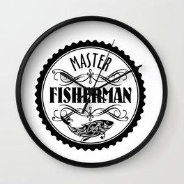 Master Fisherman Wall Clock