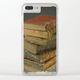 GRUBY SHABBY CHIC ANTIQUE LIBRARY BOOKS Clear iPhone Case
