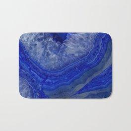 deep blue agate with peach background Bath Mat