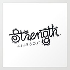 Strength Art Print