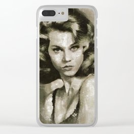 Jane Fonda by MB Clear iPhone Case