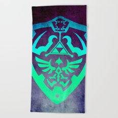 Zelda Shield Beach Towel