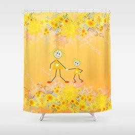 I Love My Mum Shower Curtain