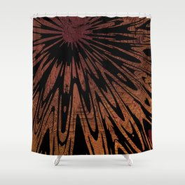 Native Tapestry in Burnt Umber Shower Curtain