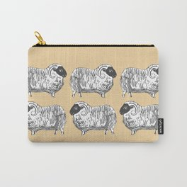 Sheep Cozy Creme Pattern Carry-All Pouch