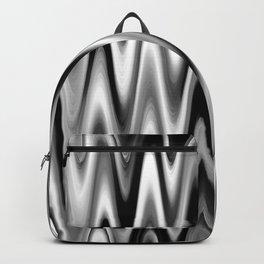 WAVY #1 (Black, White & Grays) Backpack