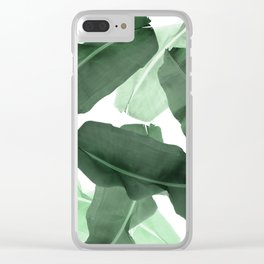 Green Banana Leaf Clear iPhone Case