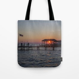 Sunset on the James River Tote Bag