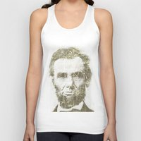 lincoln Tank Tops featuring Abraham Lincoln by Sney1