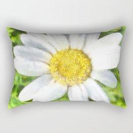 Radiant Daisy Watercolor Rectangular Pillow