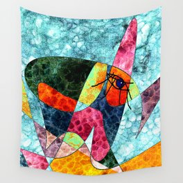 The laughing horse Wall Tapestry