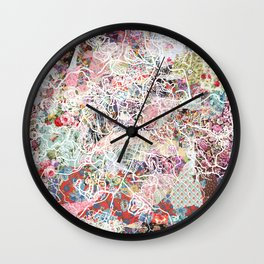 Jerusalem map Wall Clock