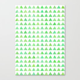 evergreen geometric pattern Canvas Print