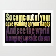 The Cave Lyrics Art Print