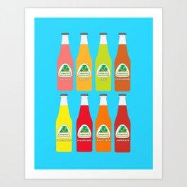 Jarritos the all natural fruit flavored sodas Kunstdrucke