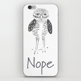 Nope in Black & White iPhone Skin